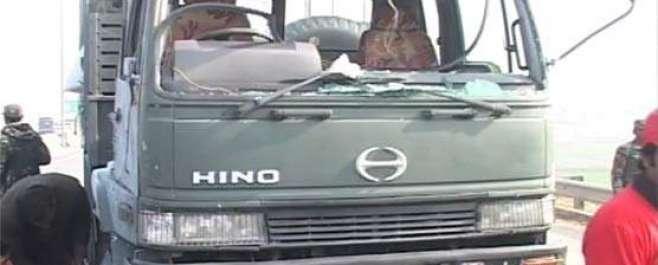 پشاور :موٹر وے ٹول پلازہ پر دھماکہ ، سکیورٹی فورسز کی گاڑی کو نشانہ ..