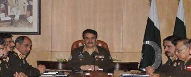 آرمی چیف جنرل راحیل شریف کی زیر صدارت کور ہیڈر کوارٹرز کراچی میں اہم ..