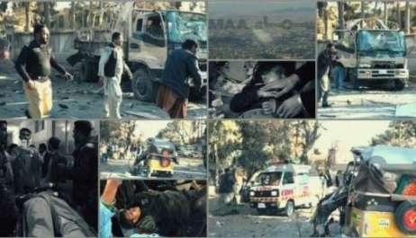 کوئٹہ میں سیکیورٹی فورسز کی گاڑی پر خود کش حملہ ..