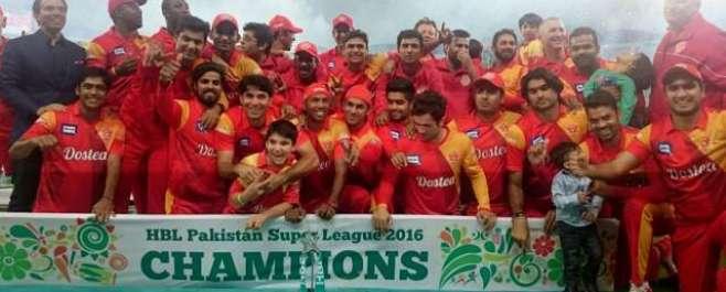 پاکستان سپر لیگ کا پہلا سیزن اسلام آباد یونائیٹڈ کے نام ، کوئٹہ گلیڈی ..