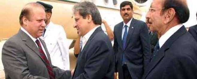 اسلام آباد: وزیر اعظم نواز شریف کراچی پہنچ گئے ، گرین لائن بس ریپڈ سروس ..