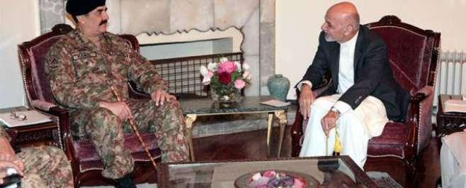 آرمی چیف کا تاجکستان سے واپسی پر کابل میں مختصر قیام ، افغان صدر اور ..