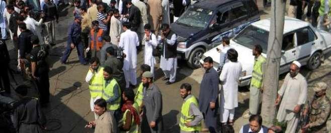 شبقدر:سیشن کورٹ کے احاطے میں خودکش دھما کہ ،13 افراد جاں بحق جبکہ 24 زخمی ..