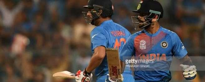 بھارت نے ہدف کے تعاقب میں 10 اوورز میں 3 وکٹوں کے نقصان پر 60 رنز بنا لیے