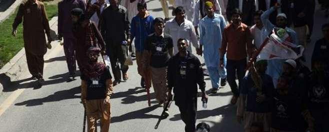 اسلام آباڈ ڈی چوک پر دھرنا، مظاہرین کے مطالبات سامنے آگئے