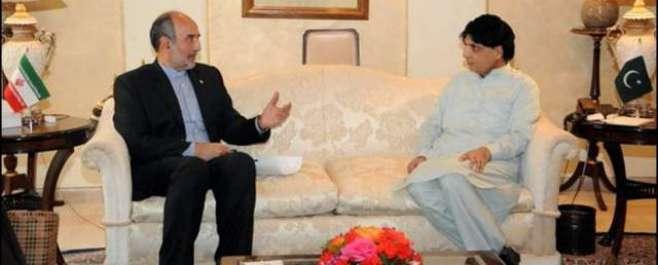 وزیر داخلہ چوہدری نثار علی خان سے ایران کے سفیر مہدی ہنر دوست کی ملاقات