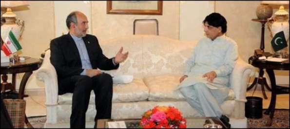وزیر داخلہ چوہدری نثار علی خان سے ایران کے سفیر ..