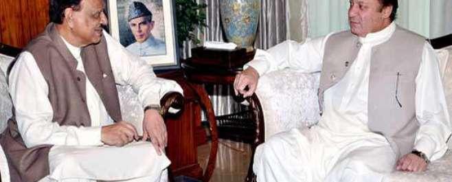 وزیر اعظم نواز شریف کی صدر مملکت ممنون حسین سے ملاقات