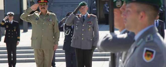 آرمی چیف جنرل راحیل شریف کی جرمن ہم منصب اور وزیر دفاع سے ملاقات