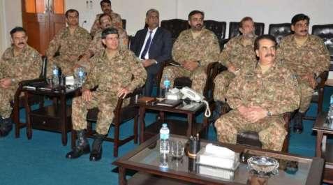 کراچی میں امن و امان سے متعلق کور ہیڈکوارٹرزمیں ..