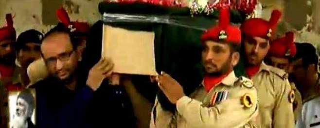 محسن انسانیت عبد الستار ایدھی کو قومی اعزاز کے ساتھ سپرد خاک کر دیا ..