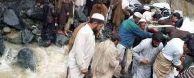 خیبر ایجنسی میں باراتیوں کی گاڑی سیلابی ریلے میں بہہ گئی'22 افراد جاں ..