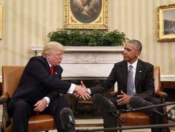 ڈونلڈ ٹرمپ کی وائٹ ہاؤس میں صدر باراک اوباما ..