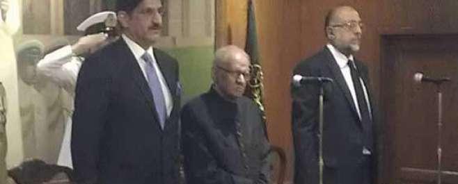 گورنر سندھ جسٹس (ر) سعید الزماں صدیقی نے عہدے کا حلف اٹھا لیا