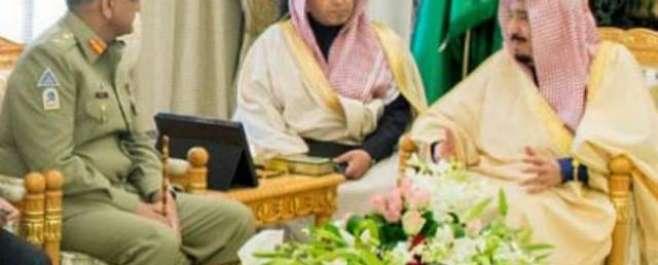 سعودی فرمانروا شاہ سلمان بن عبدالعزیز اورآرمی چیف جنرل قمرجاویدباجوہ ..