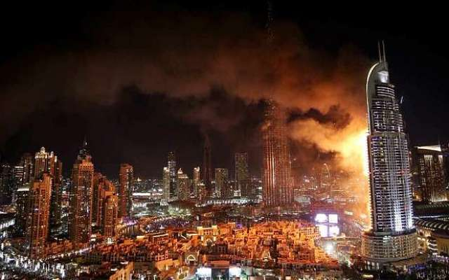 دبئی میں ہوٹل میں آتشزدگی ۔۔۔ آگ لگنے کی وجوہات اور نقصان کی تفصیلات ..
