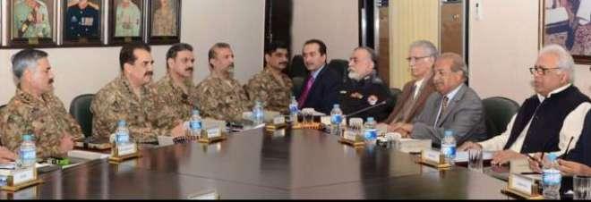 چیف آف آرمی سٹاف جنرل راحیل شریف کی پشاور میں ایپکس کمیٹی کے اجلاس میں ..