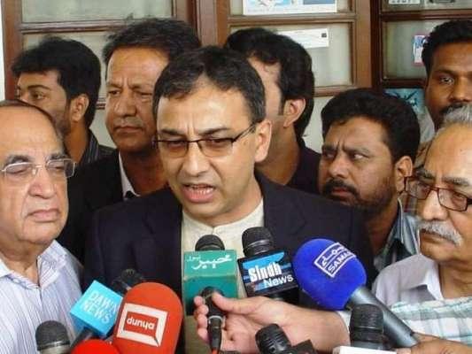 کراچی : ایم کیو ایم رہنما رضا ہارون کراچی پہنچ گئے