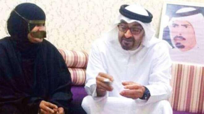 سات فوجی بیٹوں کی ماں کی ابو ظہبی کے ولی عہد سے ملاقات