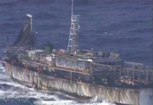 ارجنٹینا کے کوسٹ گارڈ نے غیرقانونی طور مچھلیوں کا شکار کرنے والی چینی ..