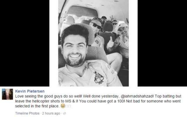 احمد شہزاد کا فارم میں واپس آنا خوش آئند:کیون پیٹرسن