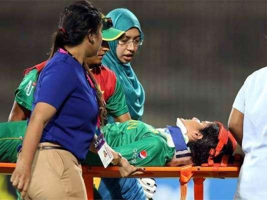 ویمن کرکٹ ٹیم کی کھلاڑی جویریہ خان زخمی ہونے کے باعث ورلڈ ٹی ٹونٹی سے ..