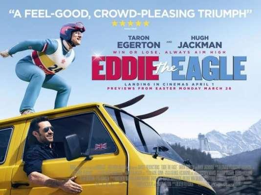 """ہالی ووڈ فلم """"ایڈی دی ایگل"""" کے یورپین پریمیئر کا انعقاد"""