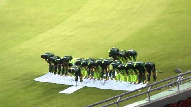 قومی ٹیم کے کھلاڑیوں کی بھارت کیخلاف میچ میں فتح کے حصول کیلئے خصوصی ..