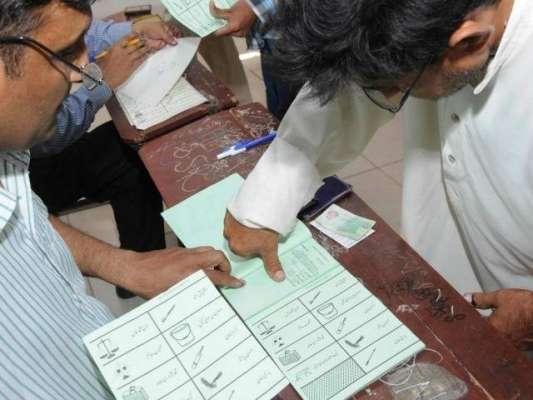 پشاور کے حلقہ پی کے 8 میں ضمنی انتخاب کے لیے پولنگ جاری