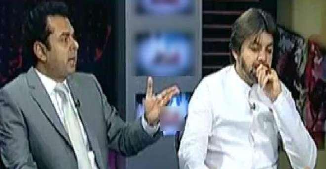 طلال چودھری اور علی محمد خان کے درمیان ٹاک شو میں تلخ کلامی