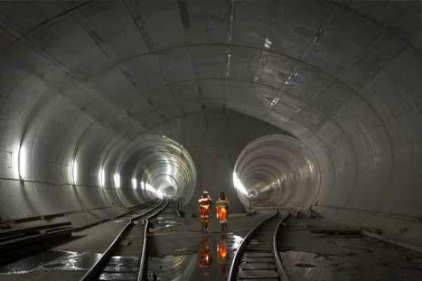 سوئٹزر لینڈ میں دنیا کی طویل ترین ریلوے سرنگ تیار