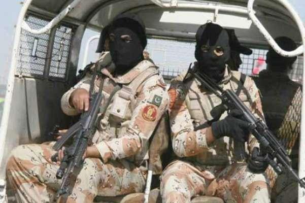 پاکستان رینجرز سندھ کی ناظم آباد میں کارروائی ،بھاری اسلحے کا ذخیرہ ..