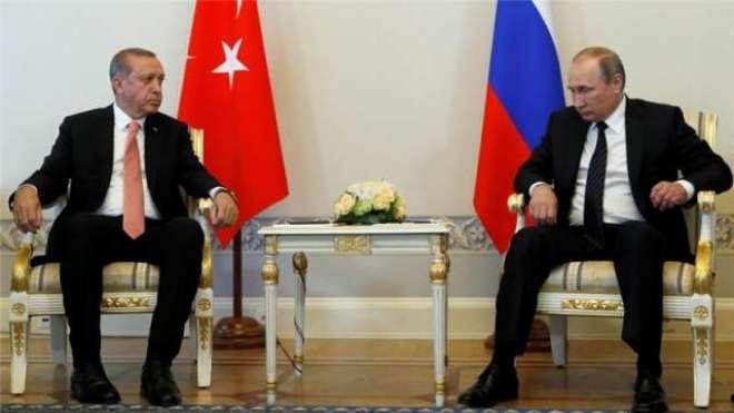 ترک صدرکی روسی ہم منصب سے اہم ملاقات ،دونوں رہنماؤں کا تعلقات بہتر ..