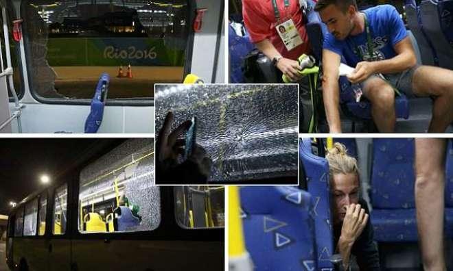 برا زیل ،اولمپکس مقابلوں کی کوریج کرنیوالی صحافیوں کی بس پرفائرنگ،2معمولی ..