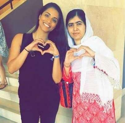 یوٹیوب پر مقبول کینیڈین اداکارہ کی ملالہ سے ملاقات