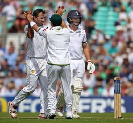 اوول ٹیسٹ میں پہلے روز کے کھیل کے دوران چائے کا وقفہ، انگلینڈ نے 5 وکٹوں ..