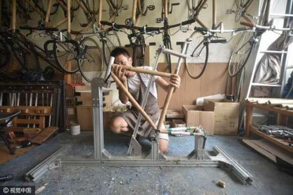 دو دوستوں نے بانس کی سائیکل بنا لی۔ سائیکل نے  2500 کلومیٹر کا فاصلہ طے ..