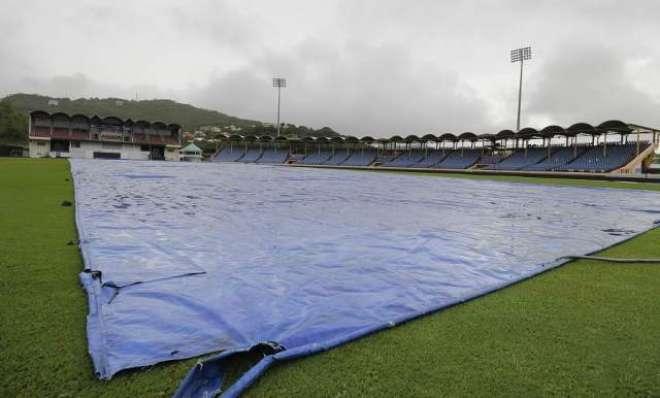 ویسٹ انڈیز اور بھارت کے درمیان تیسرے روز شدید بارش کی نذر 'ایک گیند ..