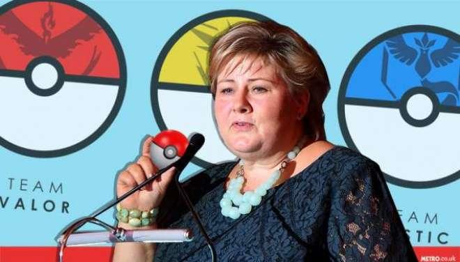 ناروے کی وزیر اعظم  بحث کےد وران پارلیمنٹ میں ہی پوکیمون گو کھیلنے لگیں