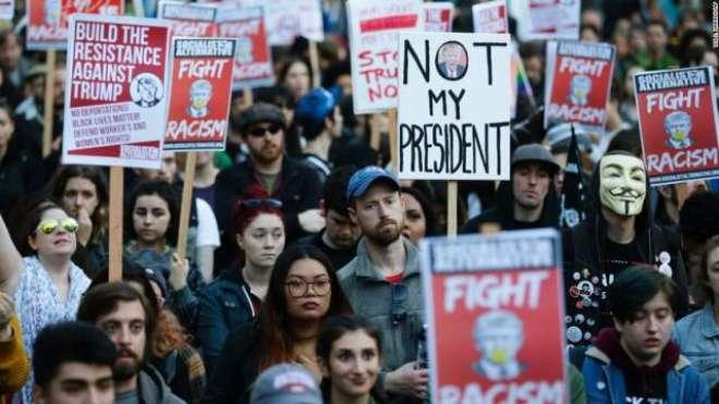 ڈونلڈ ٹرمپ کے خلاف جاری احتجاجی مظاہروں میں کیلیفورنیا اور میری لینڈ ..