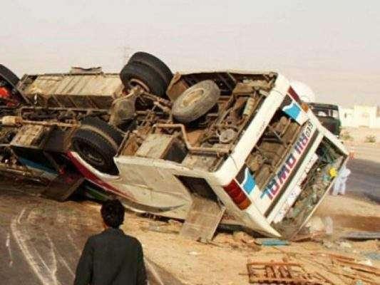 حب ،مسافر بس الٹ گئی،2 افراد جاں بحق ،20 زخمی