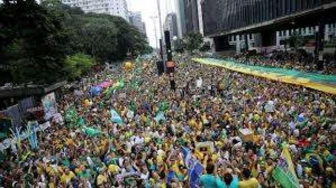 برازیل میں مظاہرین اور پولیس کے درمیان شدید جھڑپیں، متعدد افراد زخمی