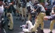 بہاولنگر میں پولیس نے نوجوان کو سرعام پیٹ ڈالا۔