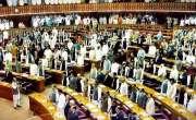 قومی اسمبلی میں کارروائی دیکھنے کیلئے مہمانوں کے رش کی وجہ سے دھکم ..