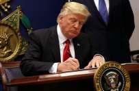 سفری پابندی کے حوالے سے امریکی صدر ڈونلڈ ٹرمپ نے نیا حکم نامہ جاری کر ..