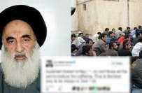 عراقی عالم دین کی جانب سے ہر شہری پر مہاجرین کی لازمی مدد کا فتوی جاری ..
