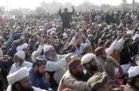 12 بجنے سے چند منٹ پہلے دھرنے سے متعلق بڑی خبر آ گئی۔۔ پیر آف گولڑہ شریف ..