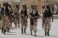 پاکستان رینجرز سندھ نے انٹیلی جنس بنیادوں پر شہر کے مختلف علاقوں میں ..
