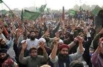 تحریک لبیک کی طرف سے فیض آباد کے مقام پر جاری دھرنے کو 14روز مکمل