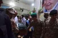 ڈاکٹر رُتھ فائو کی سرکاری اعزاز کے ساتھ تدفین میں پاک بحریہ کے اعلیٰ ..